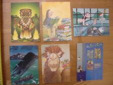 lot 6 cartes postales Postcard GRANT BLAKE PEF LEMOINE DELESSERT NASCIMBENE