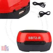 Sans fil mains-libres bluetooth tf mini rouge haut-parleur pour smartphone tablettes uked