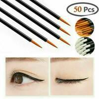 50Pcs Disposable Fine Tip Makeup Tools Eyeliner Brushes Applicators Wholesale GY