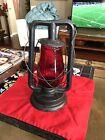 "Antique Clean Paull's Lantern ""No. 0"" Red Globe  Universal Estate Farm Sale"