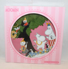 """Moomin Valley Limited Collectible Plate Pink 17cm 6 5/8"""" McDonald Japan 2016 New"""