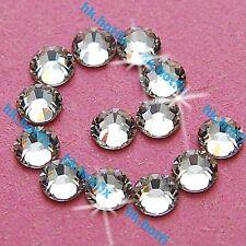 288 Crystal Clear 4mm ss16 iron on Hot fix Rhinestones Gems Beads diamante 16ss