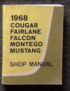 Manual de Taller / Manual Del Taller Ford MUSTANG & Mercury Cougar 1968