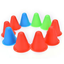 10X Colorful Marker Cones Slalom Roller Skating Training Traffic Sport HGUK