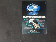 *ADVERTISING PUBBLICITA'  seiko kinetik   -- 1997