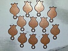 Wholesale Flower Blank Stamping Tag Red Copper Charm Pendant 15x9x1mm New DIY