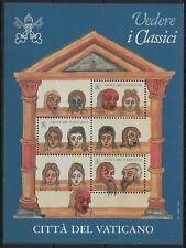 VATICAN CITY 1997 SG MS1161 Classics Exhibition. Illustrations Sheet Mint MNH