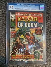 Astonishing Tales 8 cgc 5.0, Doctor Doom Ka-Zar Early Bronze age