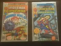 Marvel Team-Up 65 66 (1978) Spider-Man Captain Britain (lot of 2)