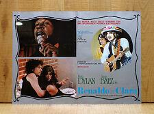 RENALDO E CLARA fotobusta poster Bob Dylan Joan Baez Rolling Thunder Revue AO19