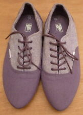 VANS Purple SHOES UK 6 trainers off the wall pointed tips skate punk