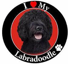 I Love My Labradoodle (Black) Car Magnet
