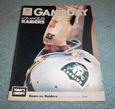 Chicago Bears vs Los Angeles Raiders 1988 Game Program Magazine Soldier Field