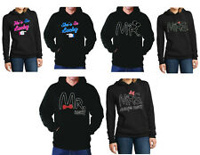 Hoodies Couple He's she's so lucky Mr. Right Mrs Always Sweatshirts Matching