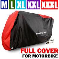 M-XXXL Motorcycle Bike Cover Waterproof Rain Dust Outdoor Protector Storage Red