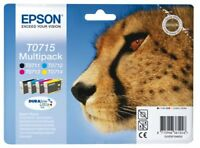 Epson Original T0715 4-Cartridge Multipack Cyan T0712, Magenta T0713, Yellow T0