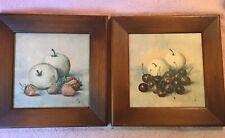 2 Vintage 1950's Hank Bay Fruit Pictures