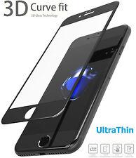 iPhone 7 voll abdeckende 3D Panzerglas Folie 9H + Rahmen Displayglas Schwarz