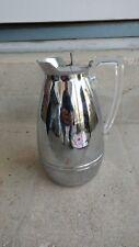 New listing Vintage thermos pitcher vacuum bottle Chrome and lucite art-deco vacuum bottle
