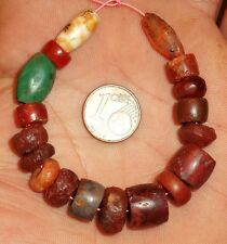 12mm Perle Ancien Afrique Agate Ancient Neolithic African Carnelian Bead Sahara