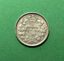 1902 H Canada 5 Cents Silver Five Cent