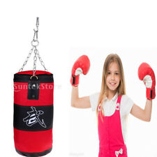 Red Heavy Boxing Bag Punch Boxing Sandbag Kickboxing Training Equipment