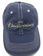 BUDWEISER BEER blue adjustable cap / hat - 100% cotton