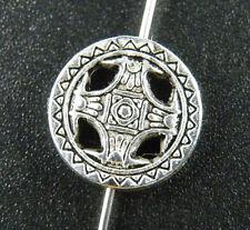 50pcs Tibetan Silver Round Spacers 14x3.5mm zn28523
