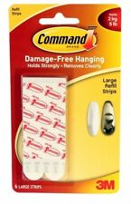3M COMMAND LARGE REFILL POSTER HANGING STRIPS  17023P PICTURE PRINT FRAME ART
