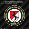 US Army 11th Armored Cavalry Regiment Veteran Sticker Adhesive Vinyl blackhorse