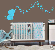 Cutie Elephant Bubbles Wall Decal Vinyl Wall Nursery Room Decor 15 Colors
