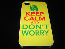 Keep Calm and Don't Worry Hard Cover Case for iPhone 4 4s Yellow Red Green
