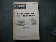 Caterpillar 442 Scraper Operation Maintenance Manual