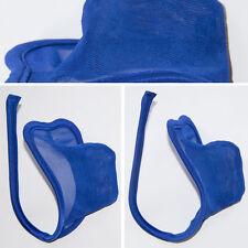 Sheer Heart Blue Mens C-string Thong Panty Underwear Invisible Underwear Briefs