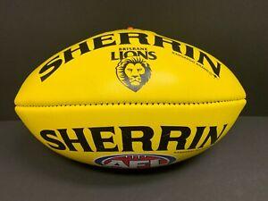 AFL BRISBANE LIONS SHERRIN OFFICIAL LEATHER FOOTBALL Zorko Neale Bears Fitzroy