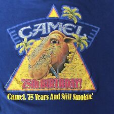 Vintage 80's Joe Camel 75th Birthday shirt, cigarettes, Large, Made in USA