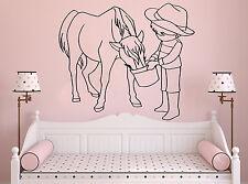 Wall Room Decor Vinyl Sticker Mural Decal Nursery Girl Pony Horse Little F2246