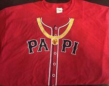 """DAVID ORTIZ """"Big Papi"""" Bling T-Shirt Boston Red Sox SGA 9/13/16, Men's XL"""