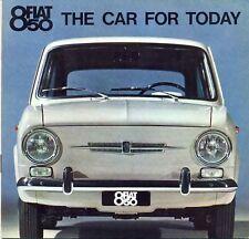 Fiat 850 Saloon / Berlina UK market sales brochure c.1965/66