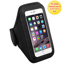 Vertical Pouch Universal Black Sport Armband for iPhone 7 Plus, iPhone 6s/6 Plus