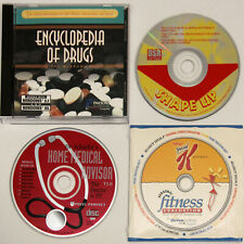 4 VINTAGE CD's Home Medical Advisor, Drug Reference, Personal Fitness, Shape Up