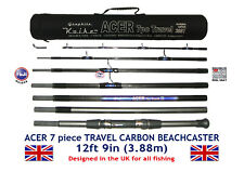 KOIKE 7pc ACER CARBON TRAVEL ROD 12ft 9in, Fuji Guides & ABU Movable Reel Seat