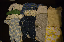 24pc lot! Carters Footed Pajamas 3M Boy Clothes Halo Sleepsack Swaddle SwaddleMe