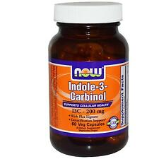 NOW FOODS - INDOLE 3 CARBINOL - 200mg x TAPAS DE 60 VEG - INDOL-3-CARBINOL (I3C)