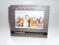 """CORNICE Foto Personalizzata nipoti-contiene 6"""" x 4"""" foto-incidere qualsiasi messaggio"""