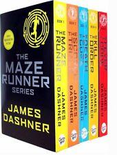 Maze Runner Series James Dashner 5 Books Set- The Death Cure , Scorch Trials NEW