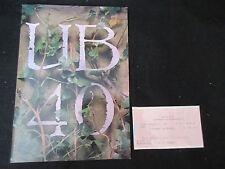 Ub40 1989 Japan Tour Book w Ticket Stub Ali Campbell Uk Reggae Concert Program
