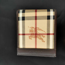 Burberry Card Holder Dark Brown Wallet with Iconic Horse Emblem