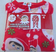Elf on the Shelf Girls Fleece Blanket Sleeper Sz 6 NWT new one piece red
