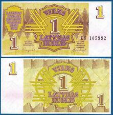 LETTLAND / LATVIA 1 Rublis 1992 UNC  P.35